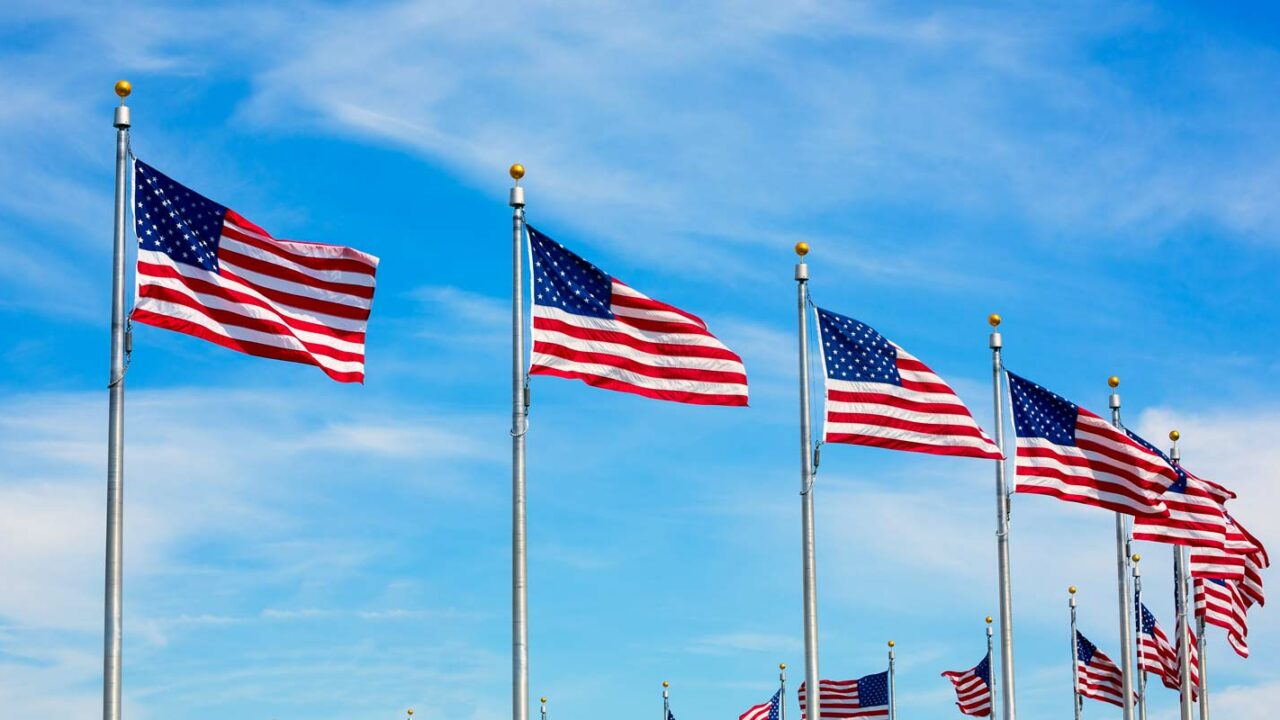 flags of the United States flown on Memorial Day