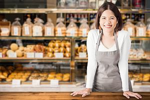 Bakery owner with bakery insurance