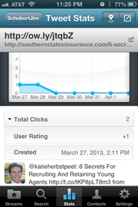 hootsuite iphone app stats view