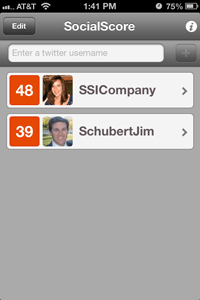 socialscore for klout dashboard