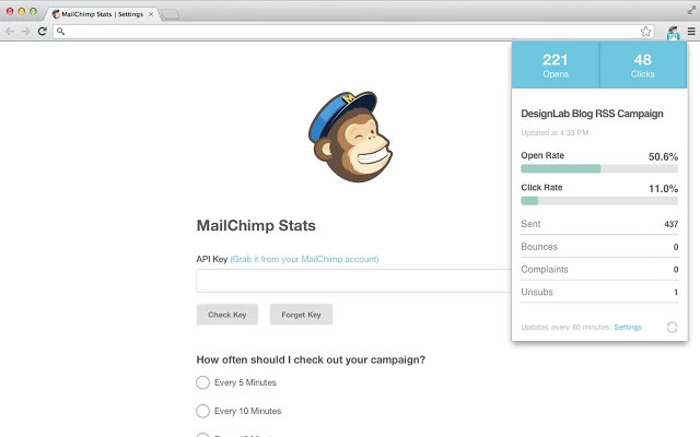 MailChimp Chrome Plugin
