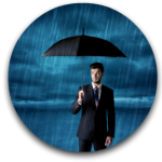 Umbrella Liability Circular Icon