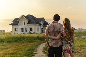 Couple looking at vacation home