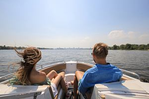 Couple with boat insurance