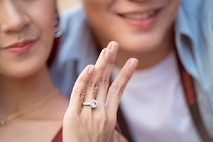 Couple with jewelry insurance