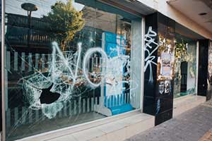 Vandalized business covered by an umbrella insurance policy