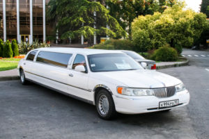 Limousine sitting in driveway