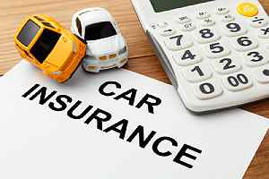 Car insurance concept. Commercial automobile insurance can cover security guard business against losses