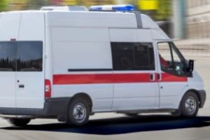 Medical Transportation Vehicle in White-Red Color