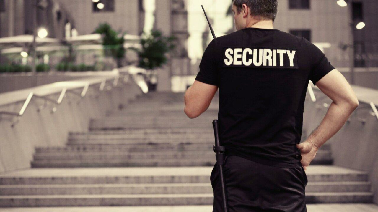 male security guard outdoor